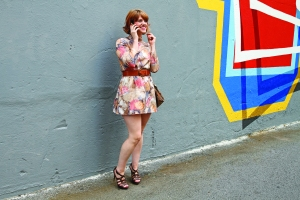 thrifted mini dress