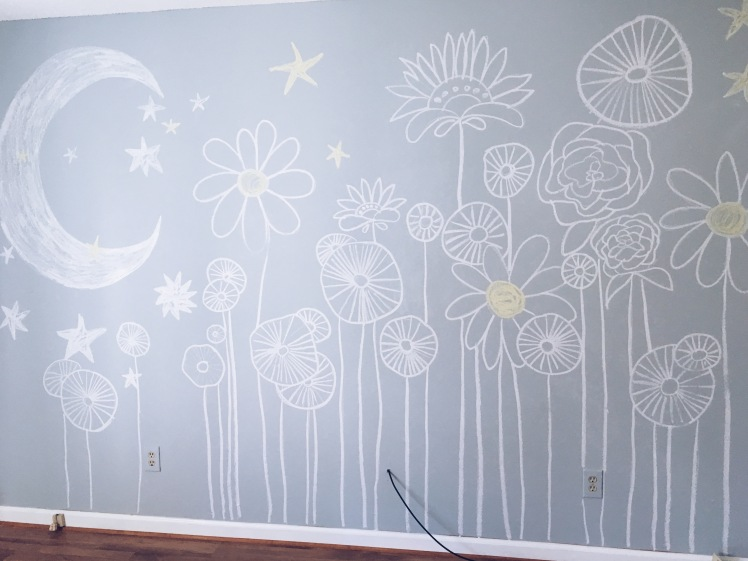 DIY chalk wall