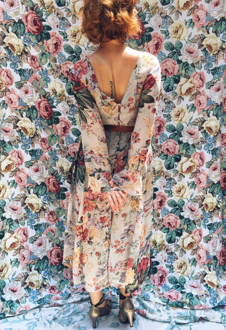 thrifted fashion, vintage, florals