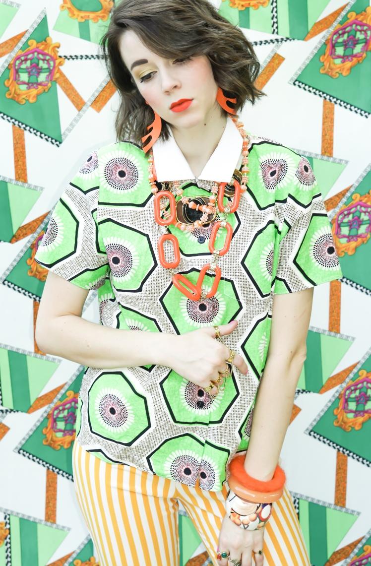 colorful, fashion, thrifted fashion
