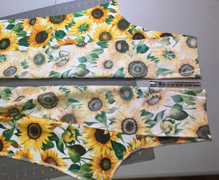 DIY sunflower pants