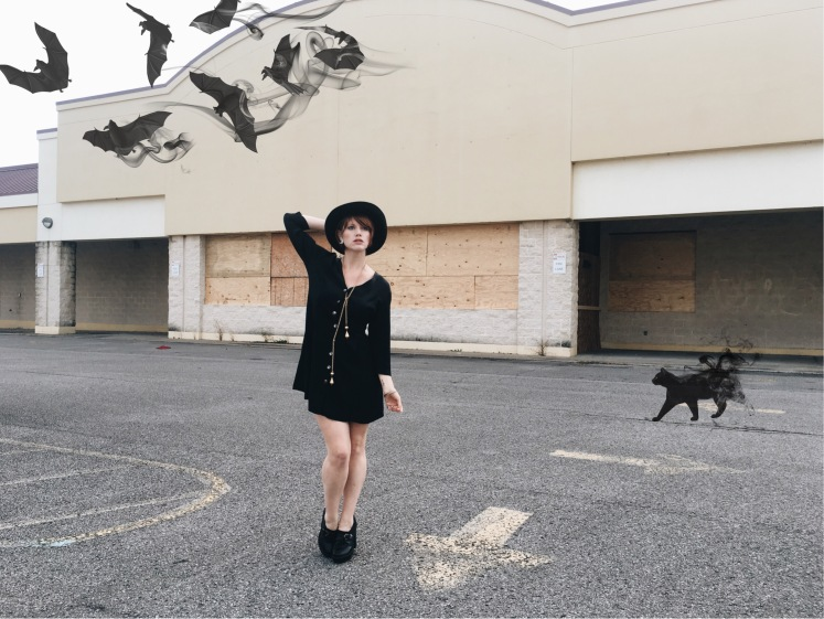 thrifted style, witch costume, blogger, halloween